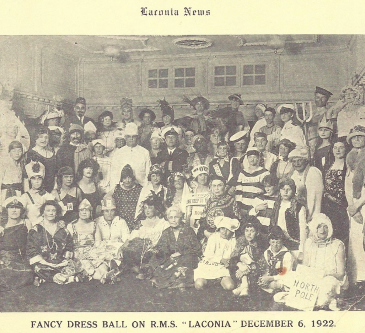 vintage photo of passengers in costume