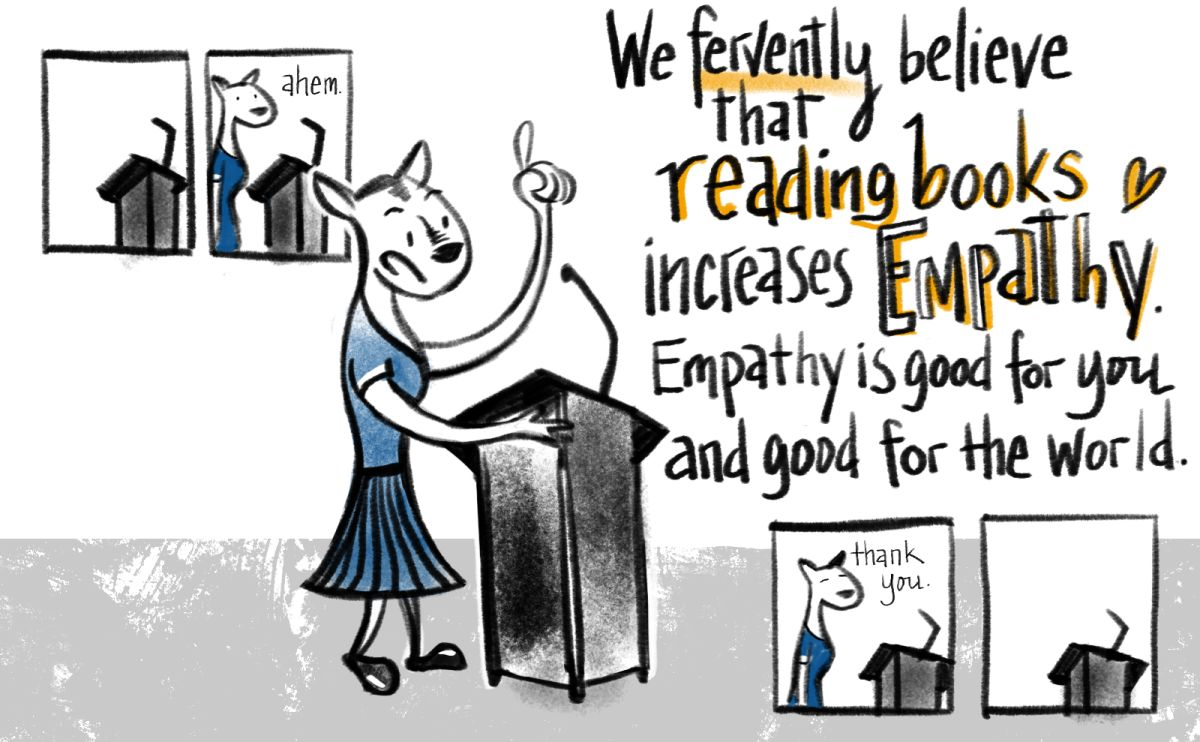 Reading increases empathy.
