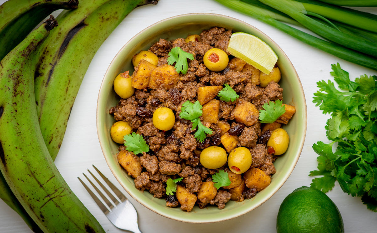 picadillo with plantains
