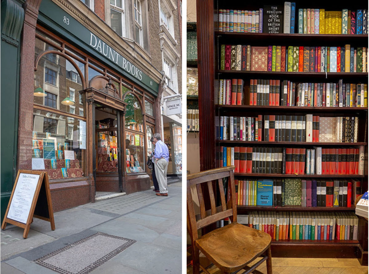 the front entrance of Daunt Books in London