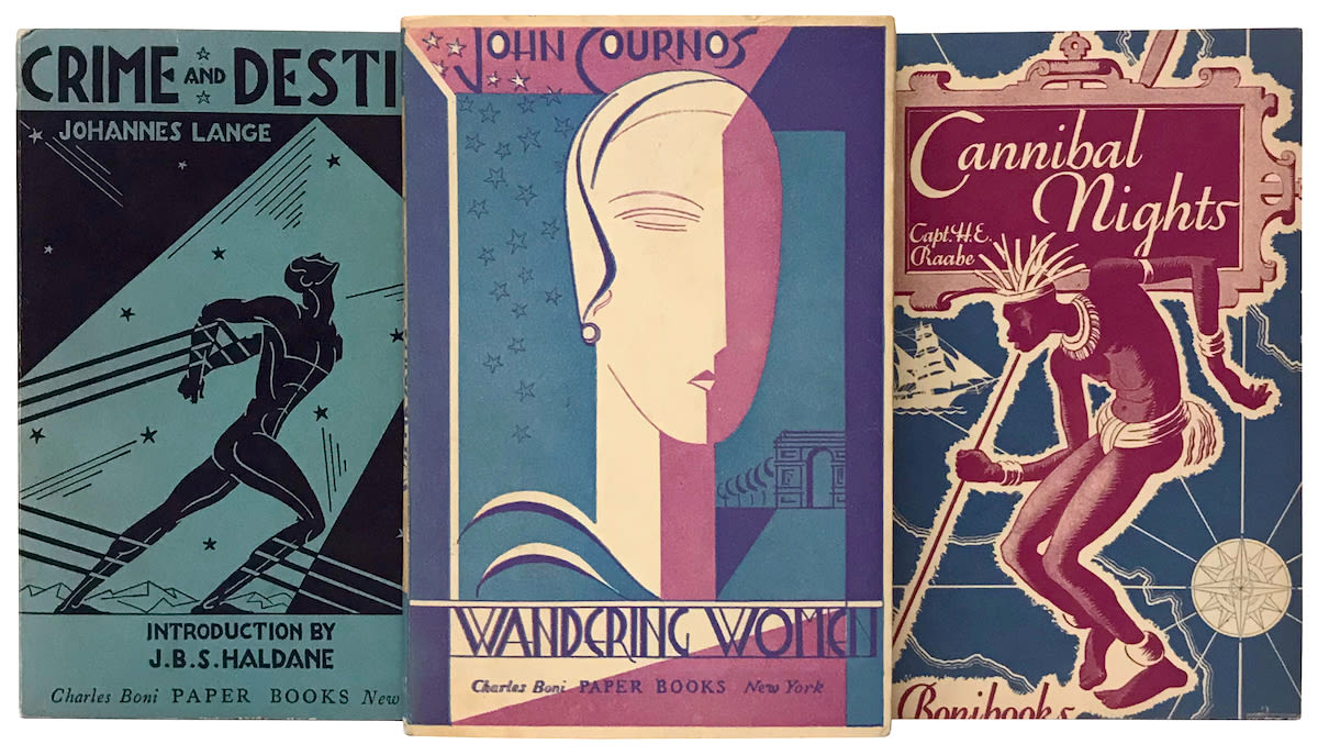 several illustrated book covers from boni books