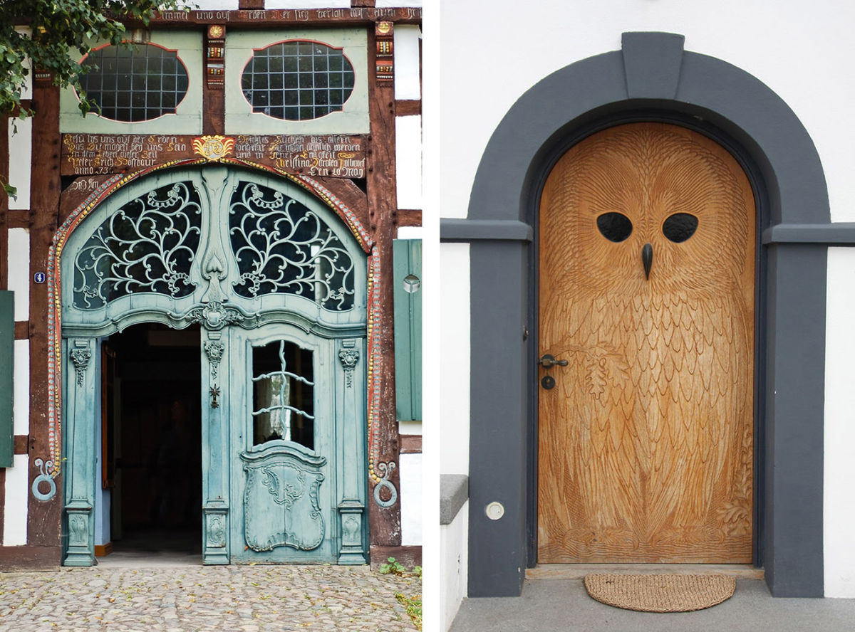 photos of handcarved doors