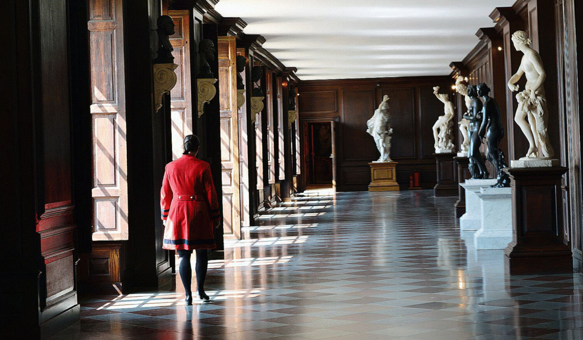 photo of hallway in hampton court palace orangery