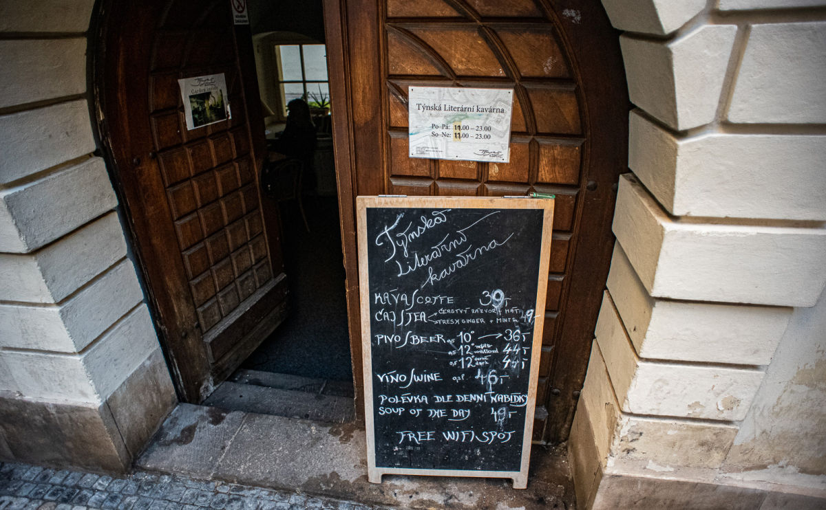 The Týnská Literary Café in Prague has a Bohemian Vibe