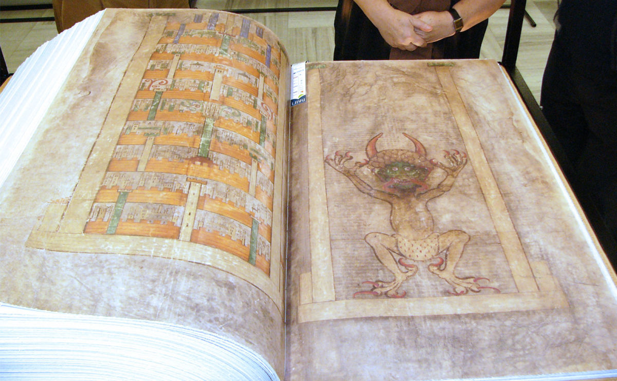Visiting the Codex Gigas (Devil's Bible) at the National Library of Sweden