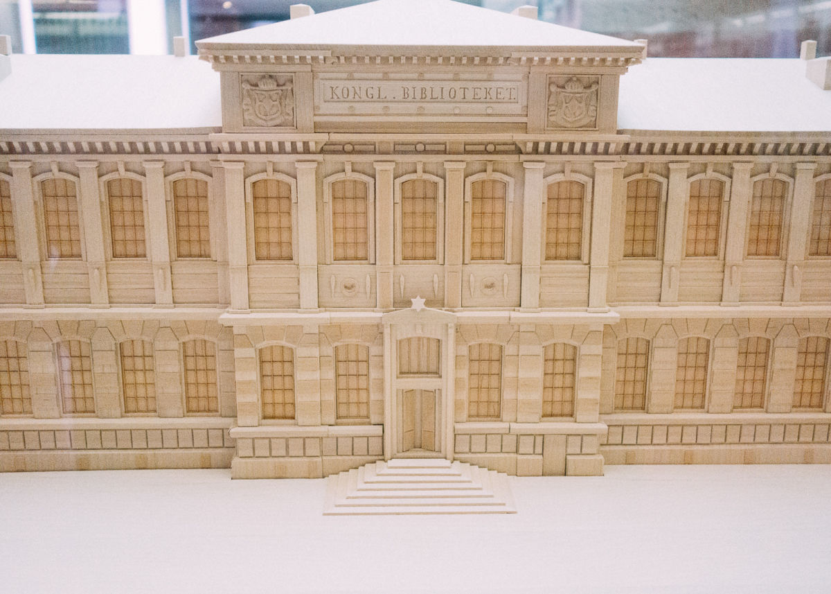 model of the national library of sweden