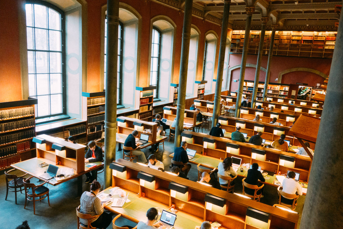 the reading room at the national library of sweden