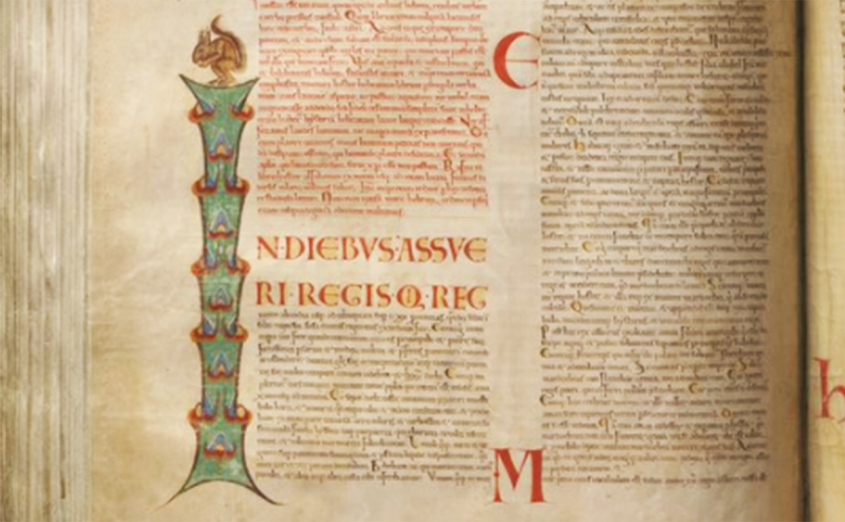 an illuminated page in the codex gigas