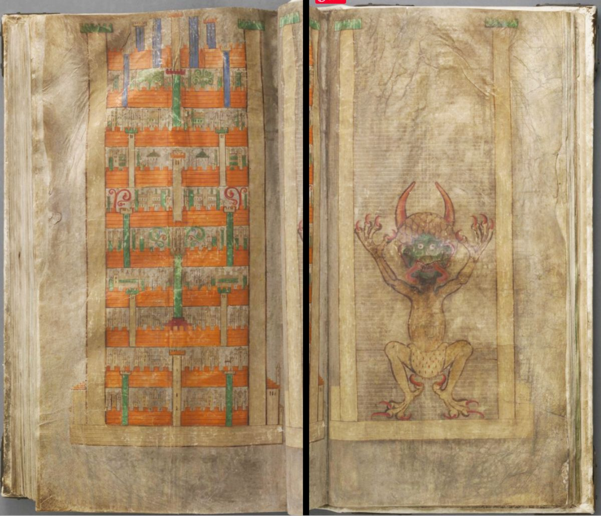 the drawing of the devil in the codex gigas