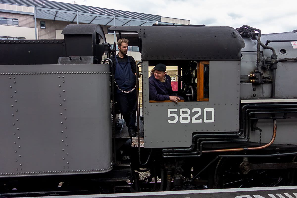 steam engine at the keighley train