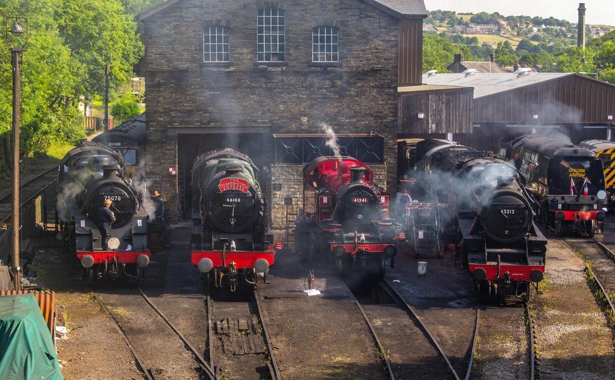 Riding the Rails from Keighley to Haworth on a Vintage Steam Train