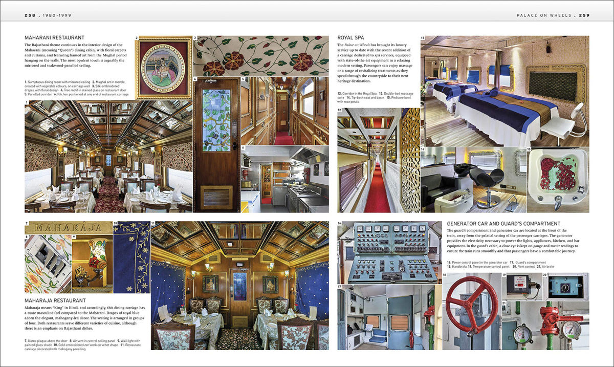 photos of the luxury train called palance on wheels in india