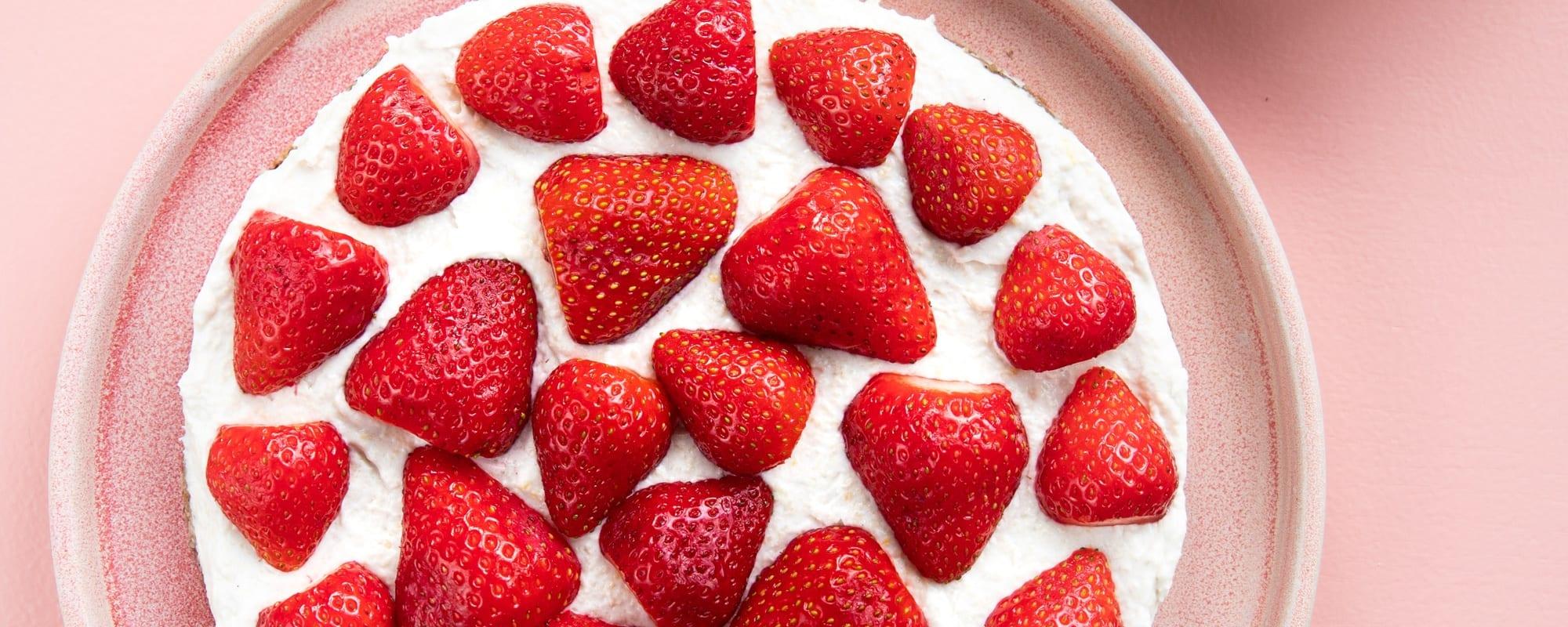 Raw & vegansk jordbærtærte