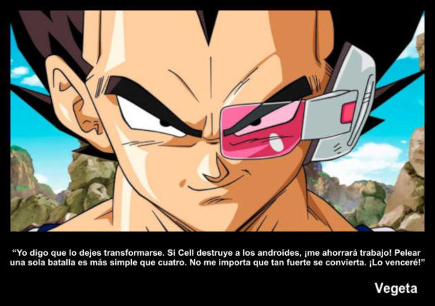 vegeta | Frase Dragon Ball