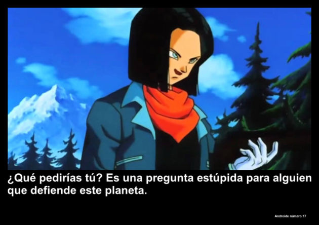 androidenumero17 | Frase Dragon Ball