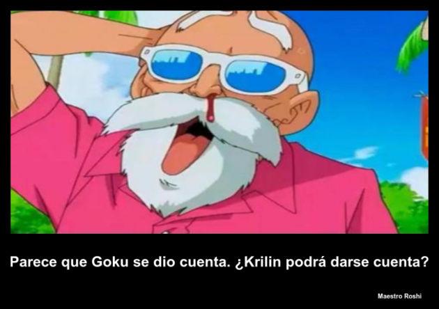 Maestro Roshi Parece Que Goku Se Dio Cuenta Krilin Po