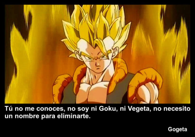 gogeta | Frase Dragon Ball
