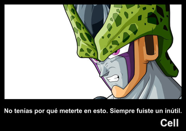 cell | Frase Dragon Ball
