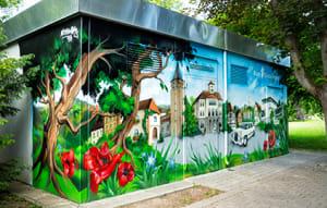 Wir verschönern Sindelfingen mit einem weiteren Stadtwerke-Graffiti!