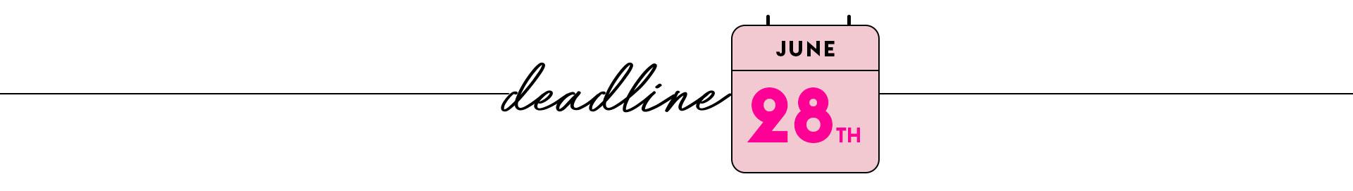 Deadline 7th june