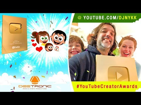 UNBOXING GOLDEN YOUTUBE CREATOR AWARD Play Button for Nykk Deetronic channel