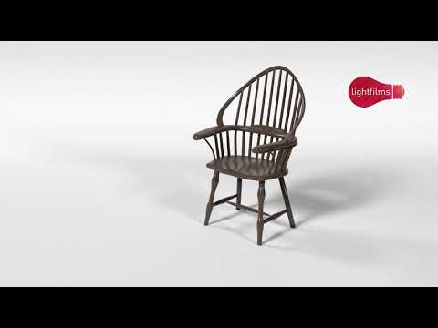 Wooden Chair turnaround