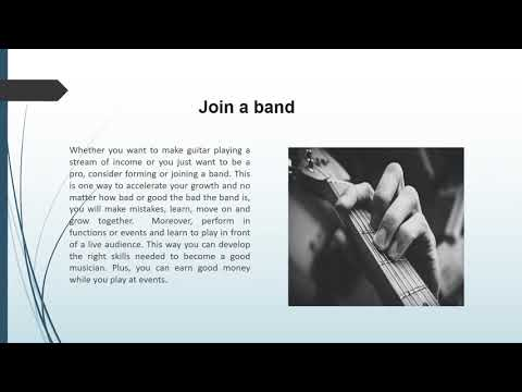 How to become a Professional Musician/Guitar Player