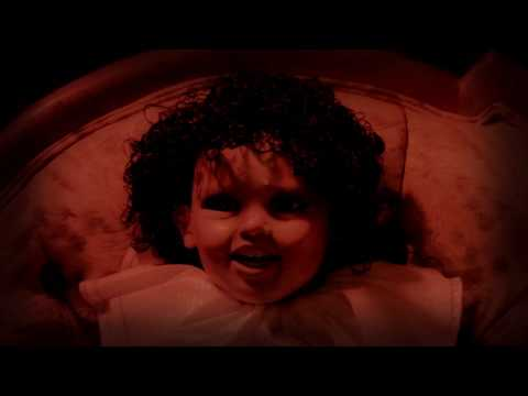 Creepy Dolls Close Up Panning Shot Stock Footage Video