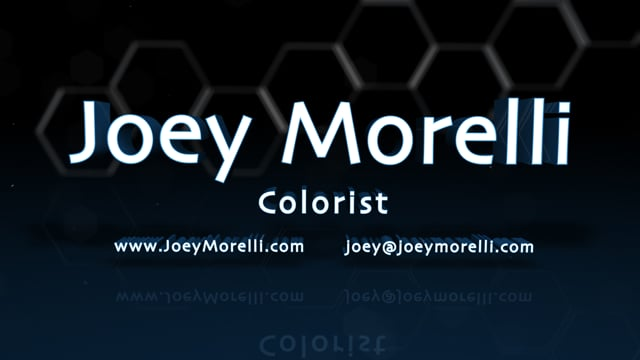 Joey Morelli: Colorist Showreel