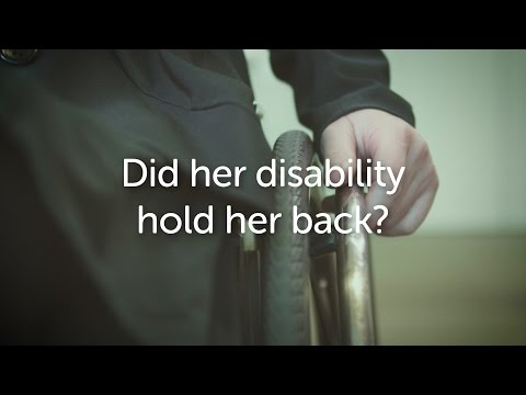 Did her disability hold her back?