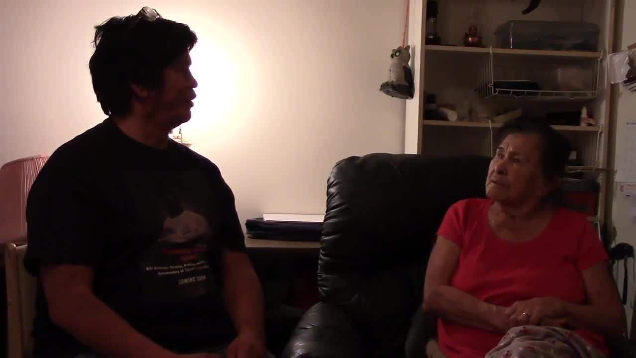 Interviewing my mom for upcoming documentary, Indigenous Success Stories