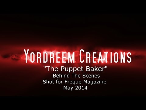 The Puppet Baker Behind The Scenes Shot for Freque Magazine 2014