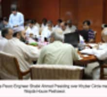 Chief Executive Pesco Shabir Ahmad Presiding Over Khyber Circle meeting held at Wapda House Peshawar.