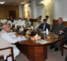 MD PEPCO Dr. Aamir Ahmed presiding over a meeting at Wapda House Peshawar - 27-04-2017