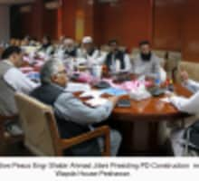 CEO PESCO Eng. Shabir Ahmad Jilani Presiding PD Construction meeting held at WAPDA House, Peshawar