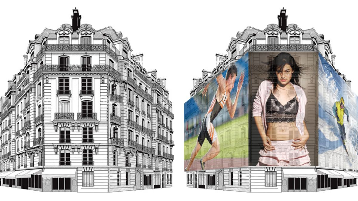 rete mesh per copertura facciata palazzo in ristrutturazione
