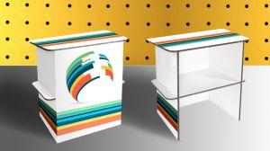 desk in cartone stampa personalizzata
