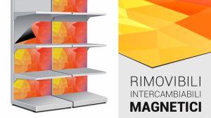 adesivi magnetici per scaffali metallici