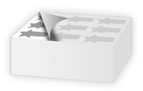 Pretagliati forniti in fogli con Application tape applicato