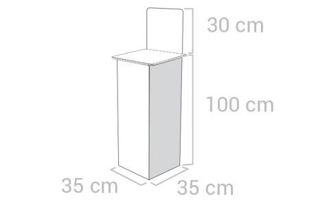 Dispenser - Base 35x35 - Altezza totale 130 cm