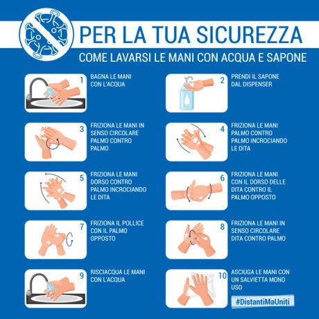 Lavare mani acqua e sapone