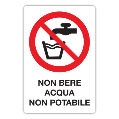 Vietato bere acqua non potabile
