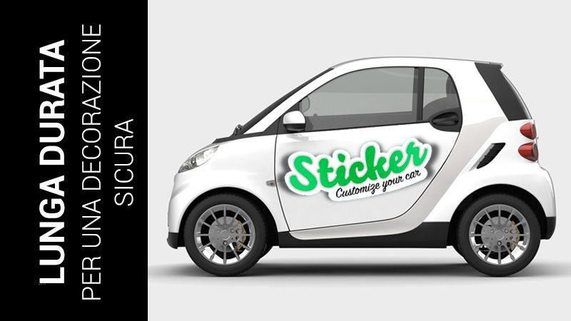 stampa adesivi personalizzati per auto