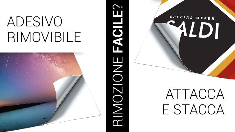 adesivi rimovibili e sticker attacca e stacca