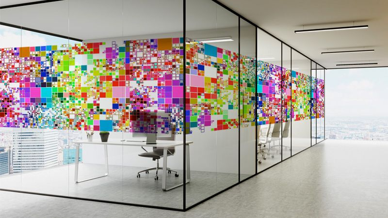 vetrofanie decorative trasparenti