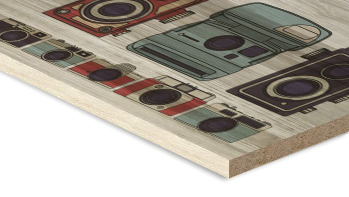 stampa su legno