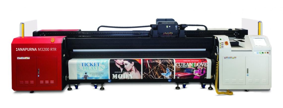 stampante digitale di grande formato AGFA Anapurna