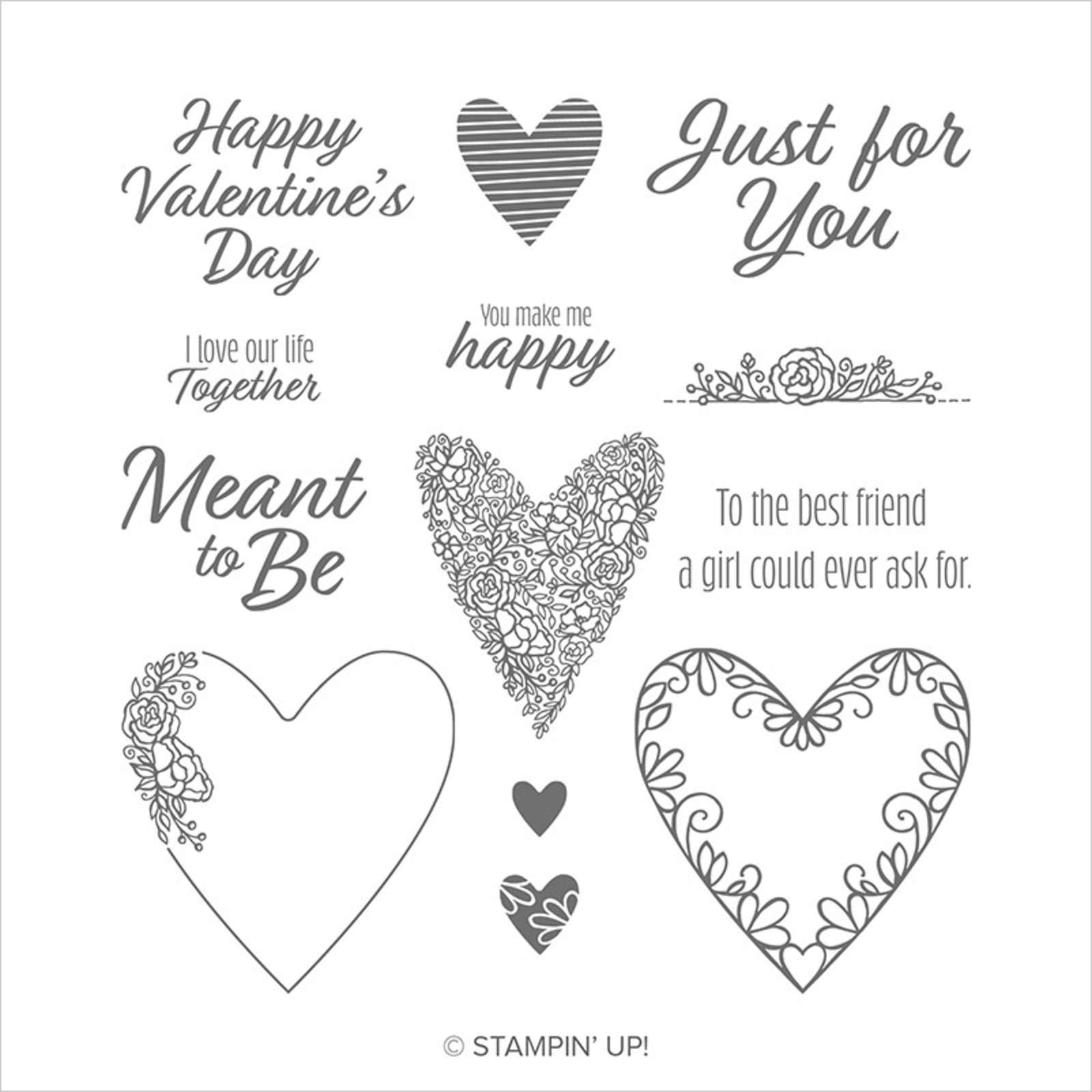 MEANT TO BE CLING STAMP SET (ENGLISH)