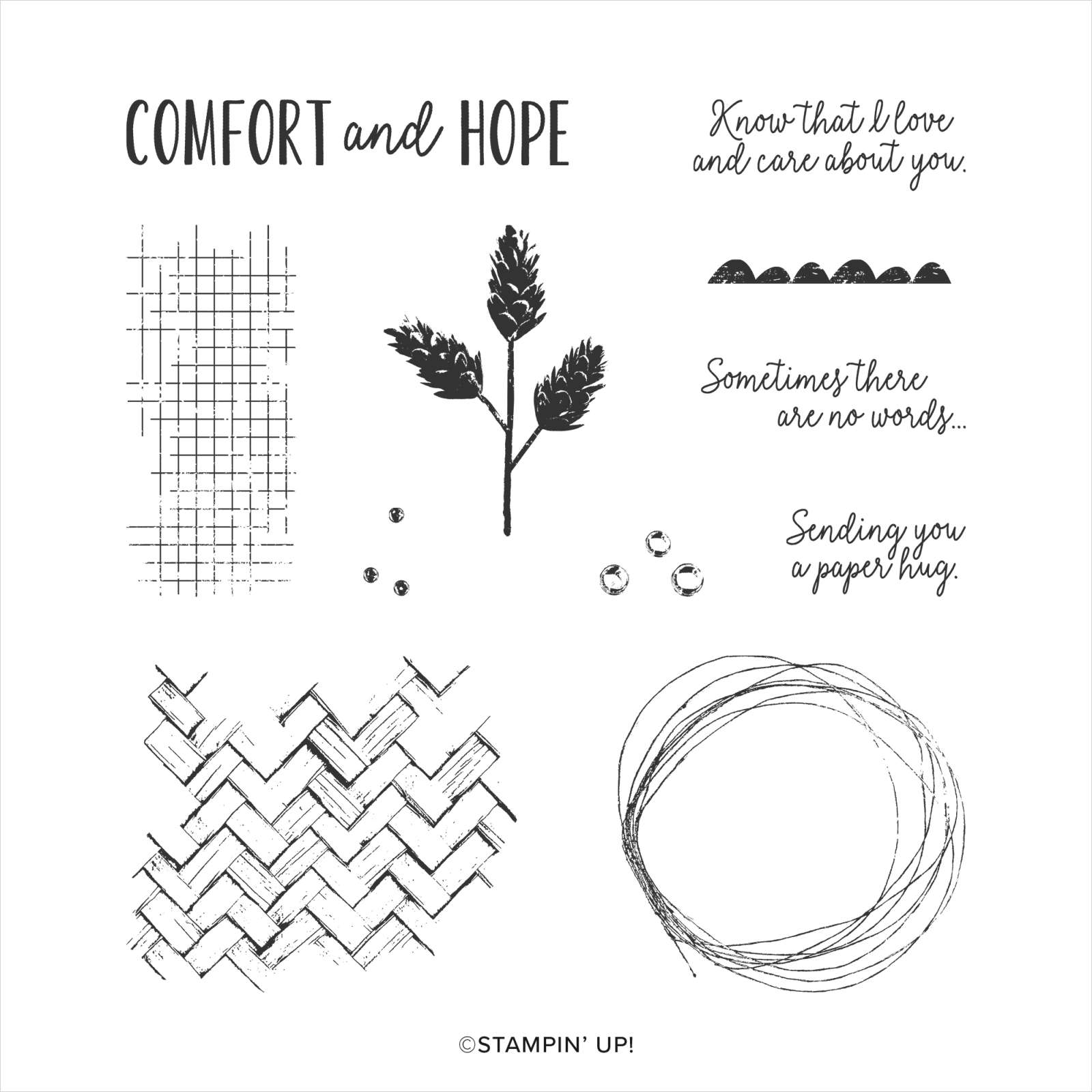 COMFORT & HOPE CLING STAMP SET