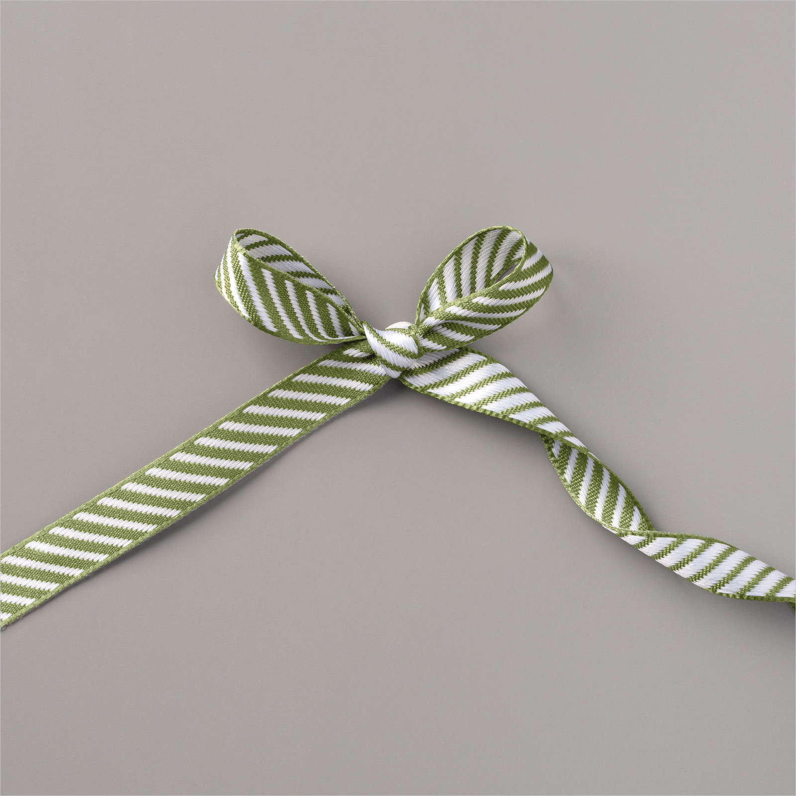 "MOSSY MEADOW 3/8"" (1 CM) DIAGONAL STRIPE RIBBON"